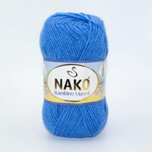 Пряжа Nako Baby Marvel 9015 сине-голубой