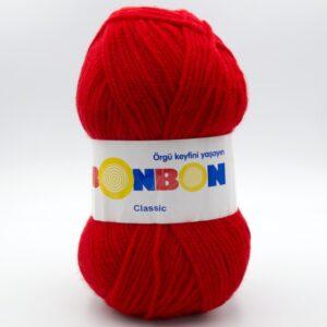 Пряжа Nako Bonbon Classic 98211 красный