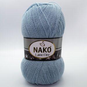 Пряжа Nako Lame Fine 10471 светло-голубой джинс