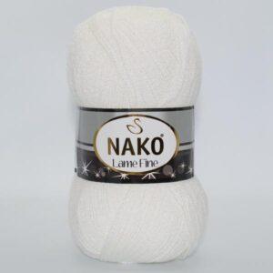 Пряжа Nako Lame Fine 208 белый