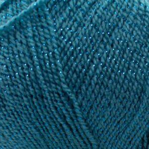 Пряжа Nako Lame Fine 5498 голубая бирюза