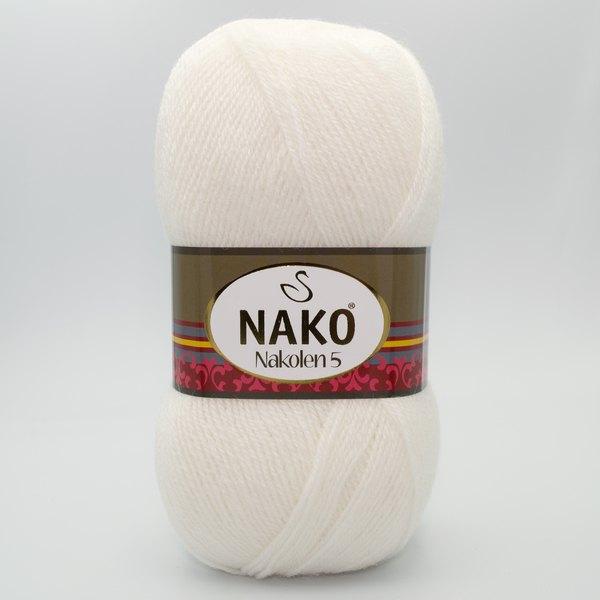 Пряжа Nako Nakolen 5 208 белый