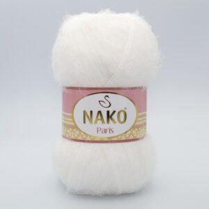 Пряжа Nako Paris 300 молочно-белый