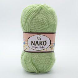 Пряжа Nako Super Bebe 10262 светло-зеленый
