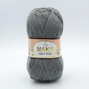 Пряжа Nako Super Bebe 194 серый