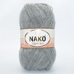 Пряжа Nako Super inci 195 светло-серый