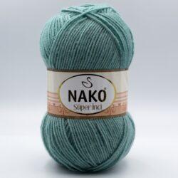 Пряжа Nako Super inci 2524 мятно-серый