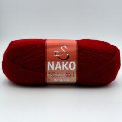 Пряжа Nako Super inci Narin 1175 темно-красный