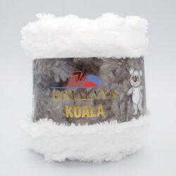 Пряжа плюшевая Himalaya Koala 75711 белый