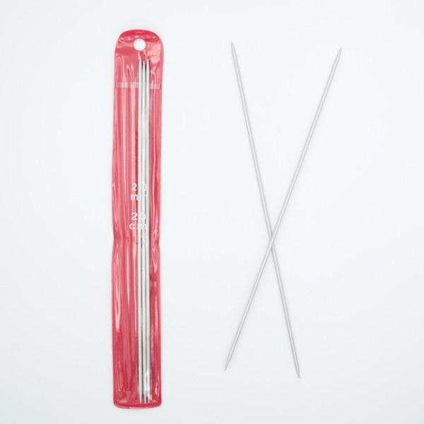 Спицы для вязания носочные 2 мм 20 см алюминий