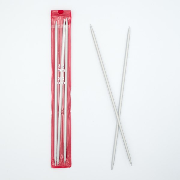 Спицы для вязания носочные 3.5 мм 20 см алюминий