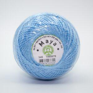 Пряжа Madame Tricote Maya 345 голубой