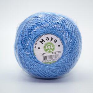 Пряжа Madame Tricote Maya 387 голубой