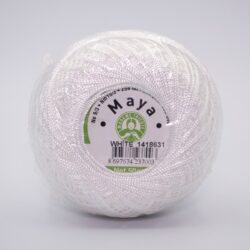 Пряжа Madame Tricote Maya white белый