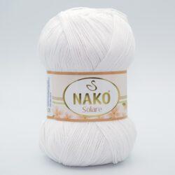 Пряжа Nako Solare 208 белый