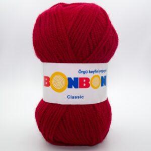 Пряжа Nako Bonbon Classic 98237 темно-красный