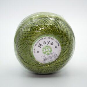 Пряжа Madame Tricote Maya 434 зеленый
