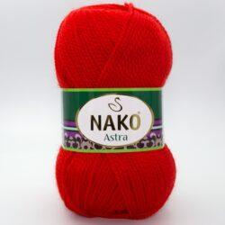 Пряжа Nako Astra 207 красный