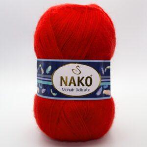 Пряжа Nako Mohair Delicate 6150 красный