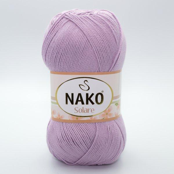 Пряжа Nako Solare 11631 сиреневый