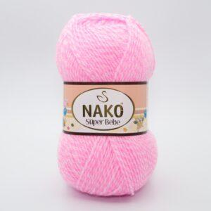 Пряжа Nako Super Bebe 21290 розовый меланж
