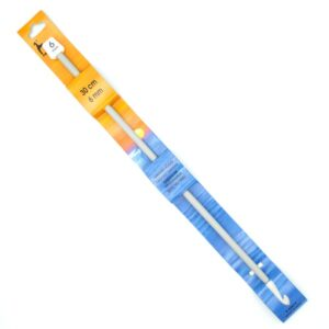 Крючок для тунисского вязания 6 мм 30 см Pony 43613 металлический с тефлоновым покрытием