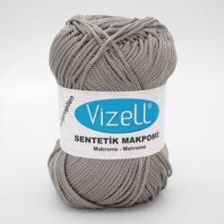 Пряжа Vizell Makrome серый