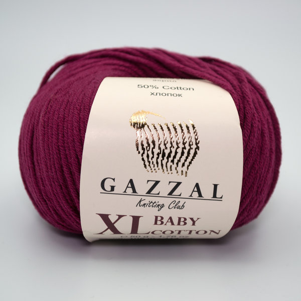 Пряжа Gazzal Baby Cotton XL 3442XL бордо