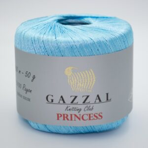 Пряжа Gazzal PRINCESS 3010 голубая бирюза