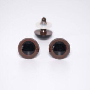 Глазки для мишек Тедди на винте 15 мм коричневые