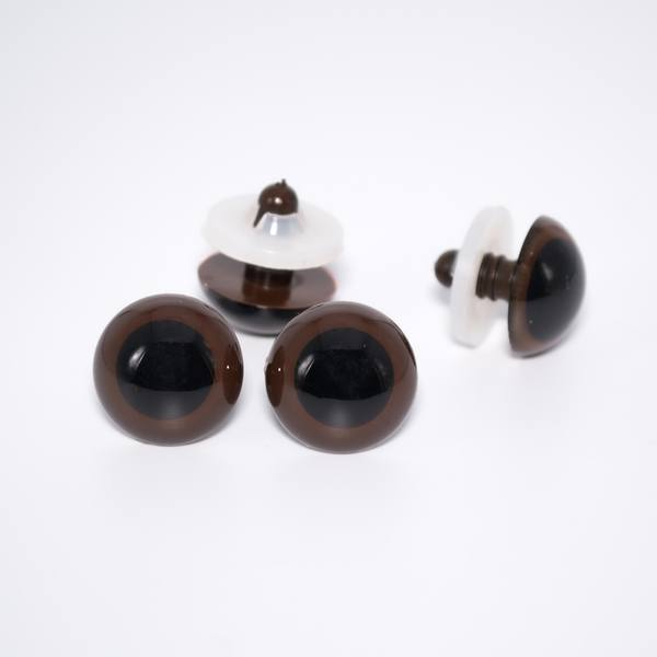 Глазки для мишек Тедди на винте 20 мм коричневые