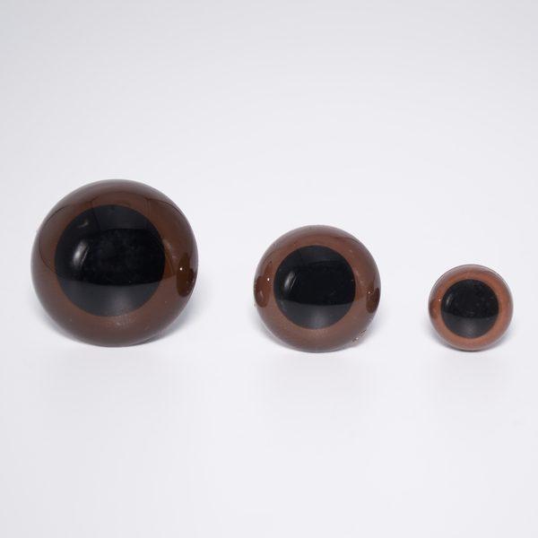 Глазки для мишек Тедди на винте 10 мм коричневые