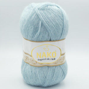 Пряжа Nako Angora Luks Simli 10471 мятно-серый