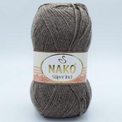 Пряжа Nako Super inci серо-коричневый 1367