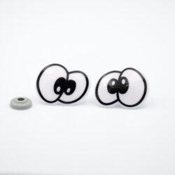 Глазки для игрушек парные черно-белые 25х32