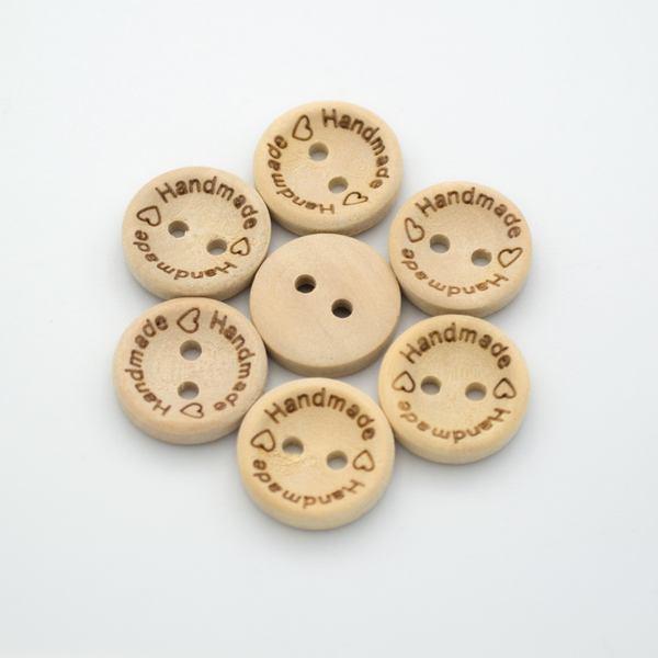 Пуговицы деревянные Hand Made