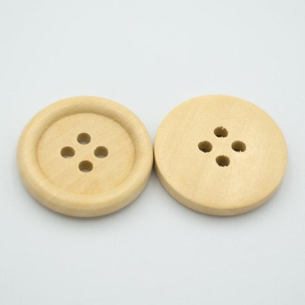 Пуговицы деревянные с лаковым покрытием