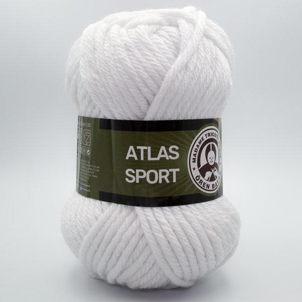 Пряжа Madame Tricote Atlas Sport 000 белый