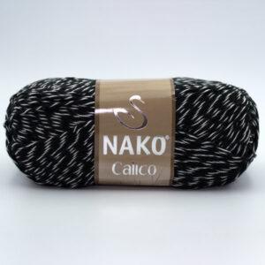 Пряжа Nako Calico 21301 черно-белый