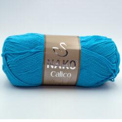 Пряжа Nako Calico 3792 голубая бирюза