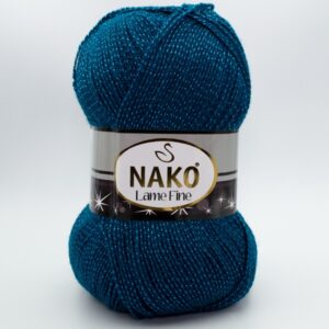 Пряжа Nako Lame Fine 10328 петроль