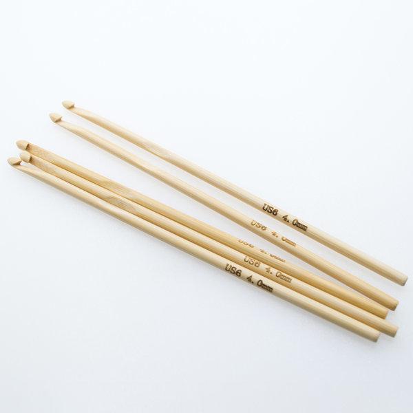 Крючок для вязания бамбуковый без ручки 4 мм
