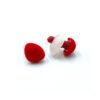 Бархатный флокированный носик для игрушек треугольный красный 11778