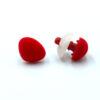 Бархатный флокированный носик для игрушек треугольный красный 11781
