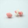 Бархатный флокированный носик для игрушек треугольный розовый 11764