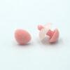 Бархатный флокированный носик для игрушек треугольный розовый 11763