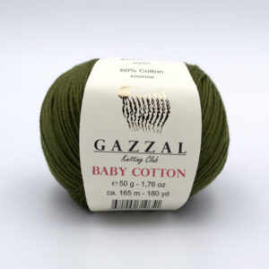 Пряжа Gazzal Baby Cotton 3463 хаки