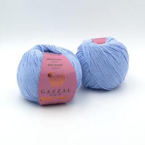 Пряжа Gazzal Baby Love 1601 голубой
