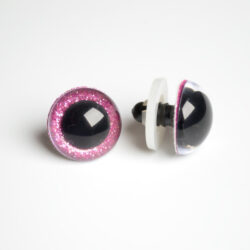 Глазки для кукол и игрушек блестящие глиттерные розовые