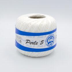 Пряжа Madame Tricote Perle 5 0000 белый